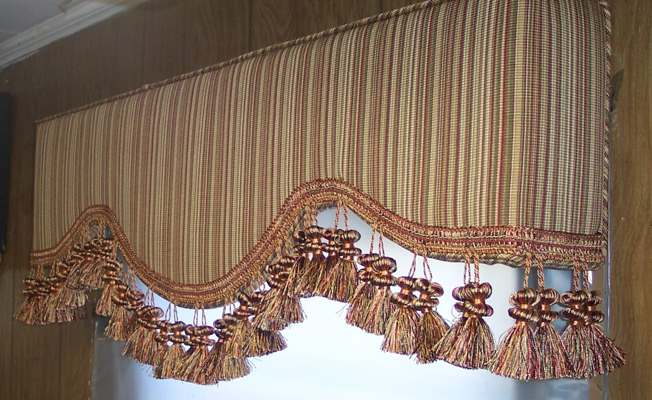 Anthem upholstered cornice boards